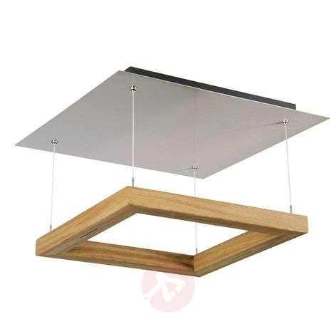 HerzBlut Leonora ceiling light 55x55 cm oiled oak
