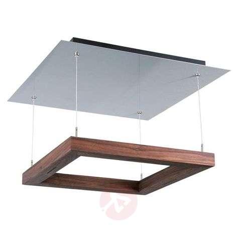 HerzBlut Leonora ceiling light 60x60cm, walnut