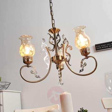 Heti three-bulb pendant light, an antique style