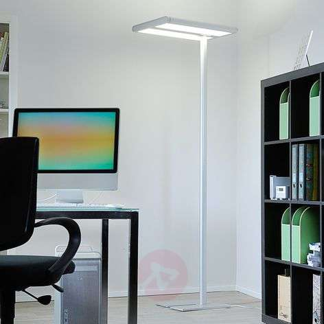High-quality office floor lamp Quirin with LEDs