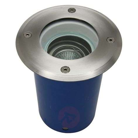 high-voltage recessed floor light rotatable by 25°