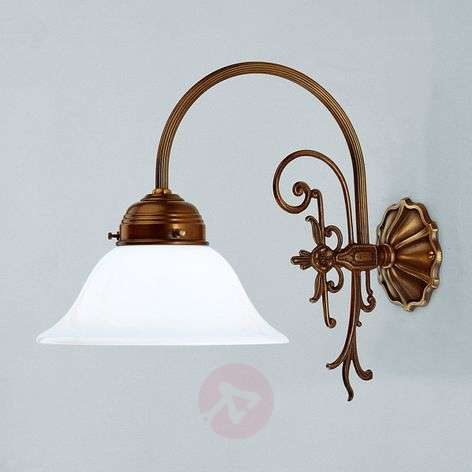 HINRICH wall light made of brass, handmade