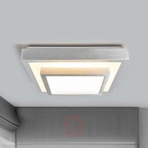 Huberta LED ceiling light aluminium-coloured frame | Lights.ie