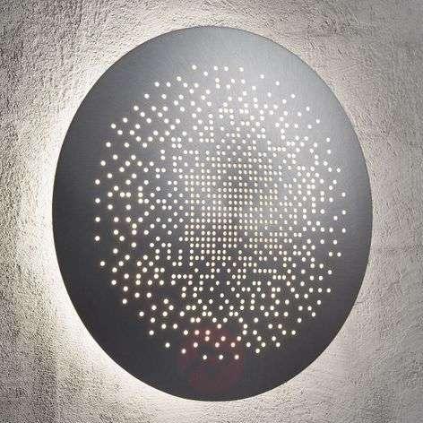 Hunt LED wall light, aluminium, 26 cm