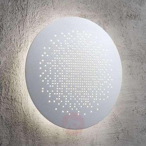 Hunt LED wall light, white, 19 cm