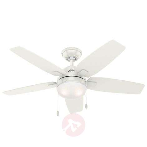 Hunter Arcot fan with light, white/grey