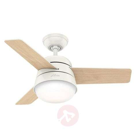 Hunter Finley fan with light, white/natural