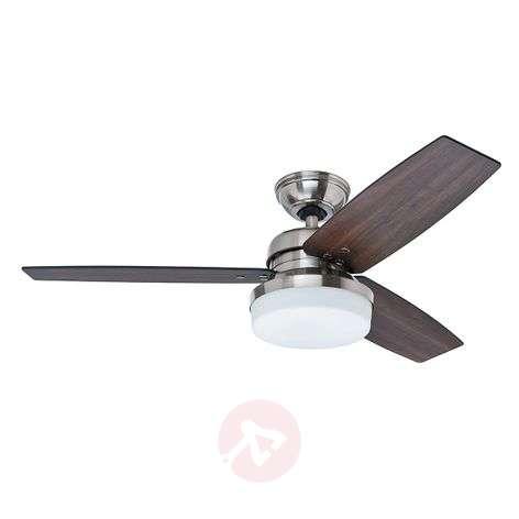 Hunter Galileo fan with light, walnut/oak