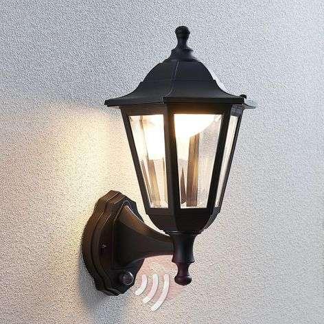 Iavo LED outdoor wall lantern with a sensor