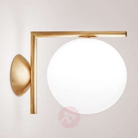 IC C/W1 - Wall Lamp by FLOS, Brushed Brass