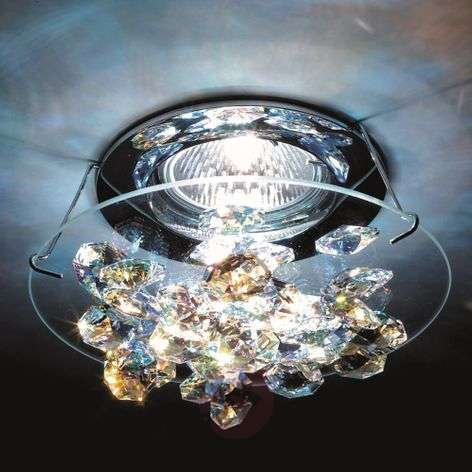 Ice crystal recessed ceiling light in chrome