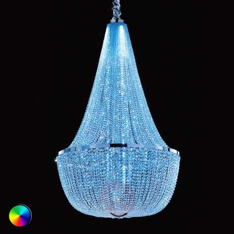 Ilaria magnificent basket chandelier with RGB LED