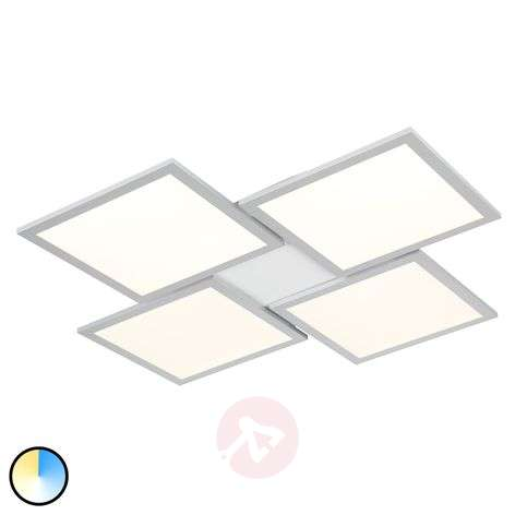 Ilira LED ceiling light, dimmable, CCT, 4-bulb