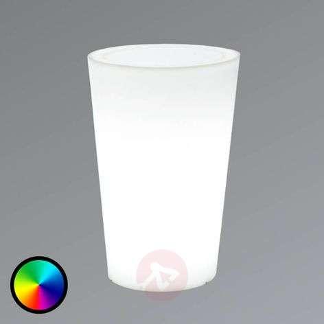 Illuminated LED flower pot Tango 50 cm