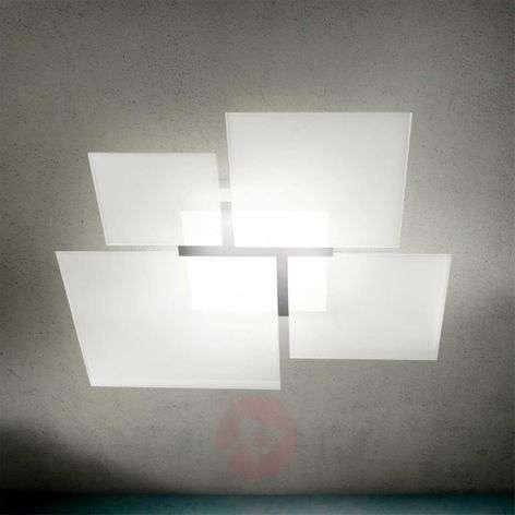 Imposing ceiling light QUADRIFOGLIO 8050, E27