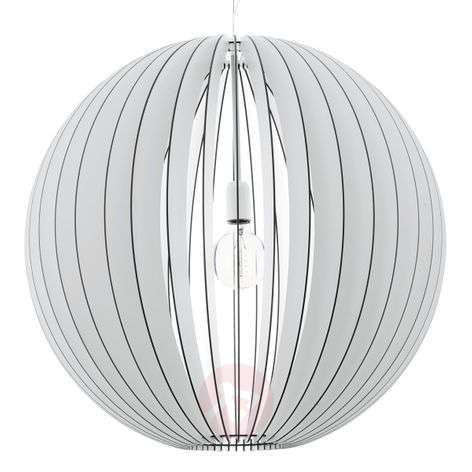 Imposing Cossano hanging light with wooden slats