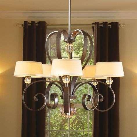 Impressive 5-bulb chandelier Madison Manor