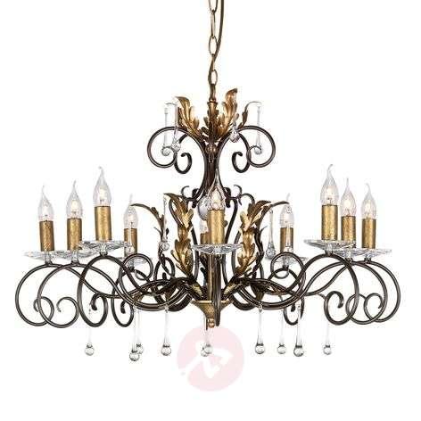 Impressive chandelier Amarilli bronze, 10-light