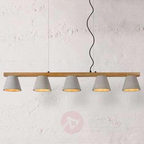 Impressive linear pendant lamp Possio, concrete