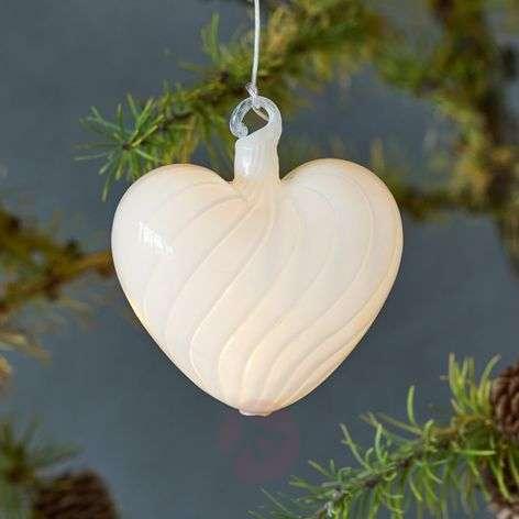 In white - LED decorative light Heaven Heart