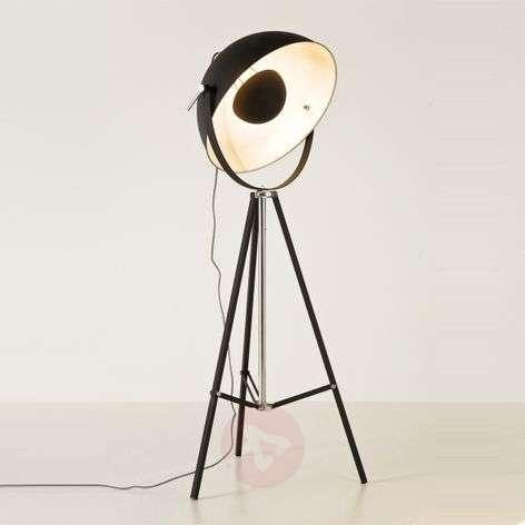 Indirectly shining floor lamp BOWL, black