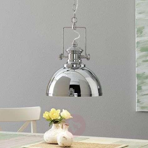 Industrially-designed metal hanging light