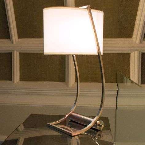 Integrated USB port - fabric table lamp Lex