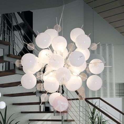 Interesting Explosion pendant lamp in white/chrome