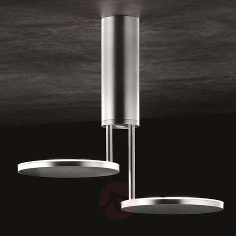 Invader LED ceiling light, matt aluminium