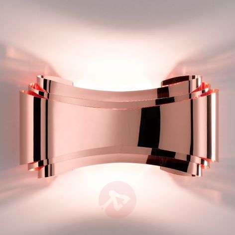 Ionica copper-coloured LED designer wall light