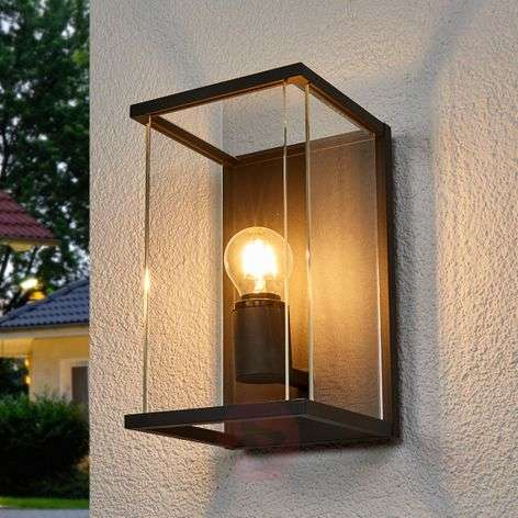 IP54 outdoor wall light Annalea, glass lampshade