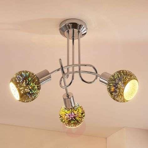 Isumi - LED ceiling light, 3D glass firework