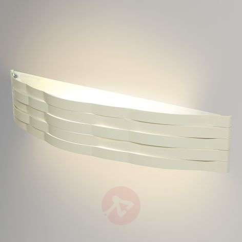 Ivory-coloured wall lamp Flutti, 52 cm