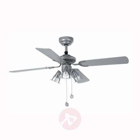 JACA Ceiling Fan in Grey with 3 Spots