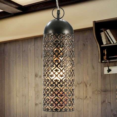 Jamila - LED pendant light made of die-cut metal