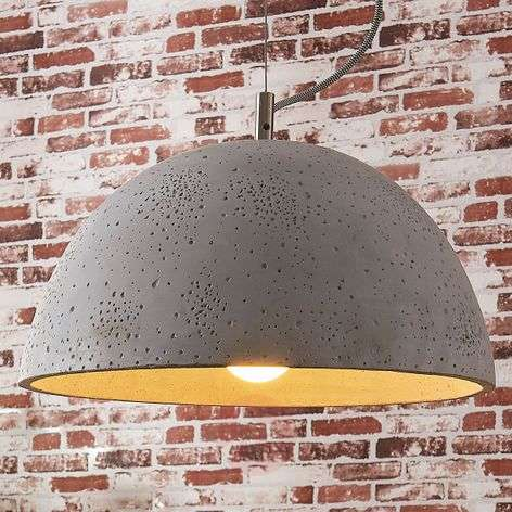 Jelin - pendant lamp with concrete lampshade