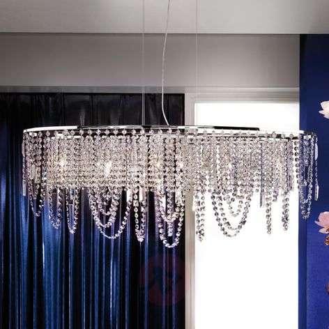 Jevana Hanging Light Beautiful Glittery Chrome