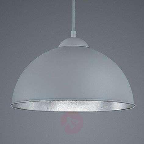 Jimmy metal hanging light in grey-silver
