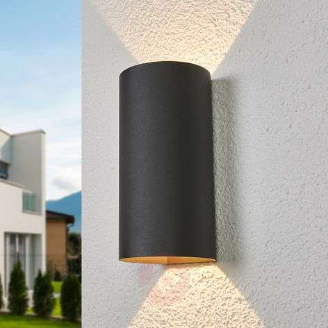 Joshi - LED outdoor wall light in a round shape