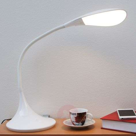 Josia, Dimmable LED Desk Lamp in White