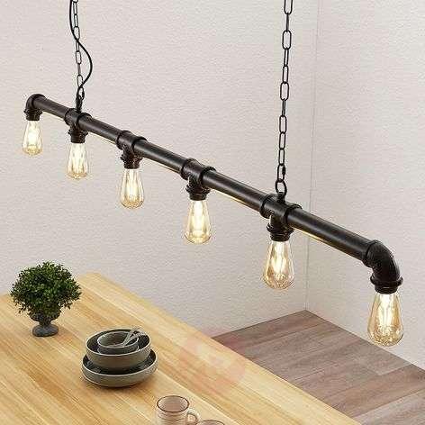 Josip linear pendant light in an industrial style