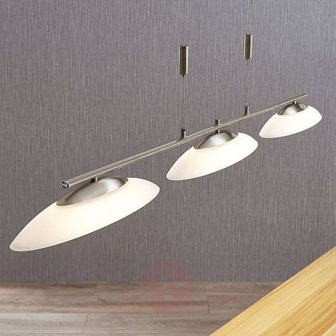 Judie three-bulb LED hanging lamp with dimmer