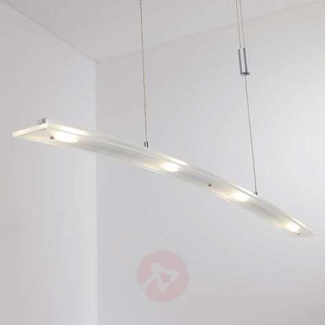 Juna - LED pendant lamp with glass shade, 98 cm