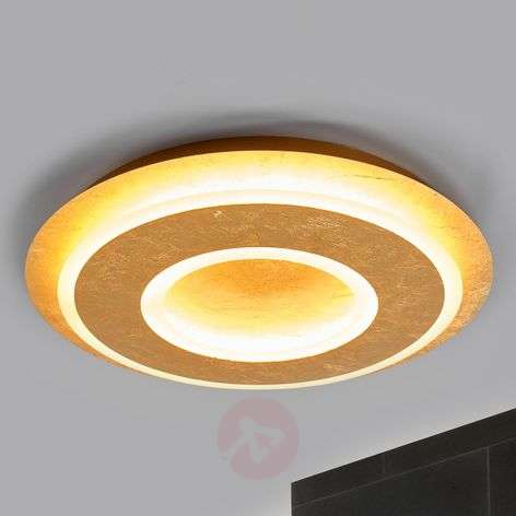 Juran - round LED ceiling lamp in gold