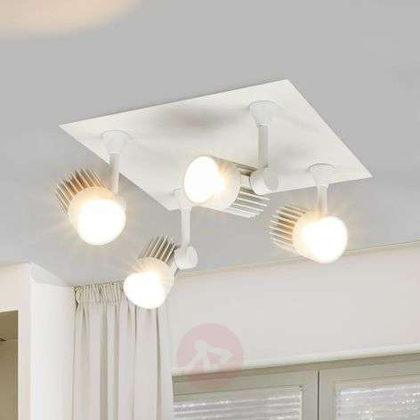 Justus four-bulb LED ceiling light, incl. recessed