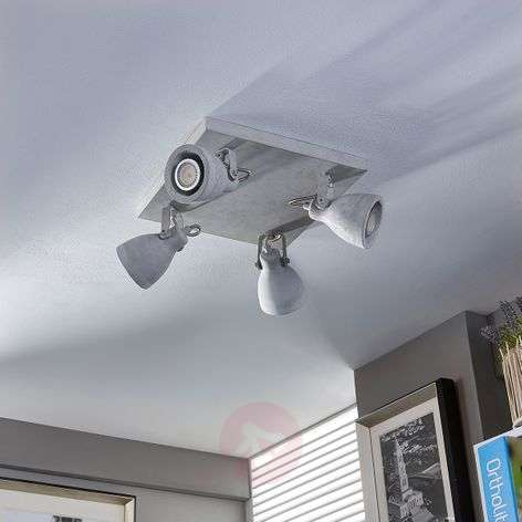 Kadiga - LED ceiling spotlight, concrete, GU10