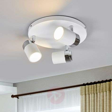 kardo bathroom circular ceiling spot whitechrome - Bathroom Ceiling Lights