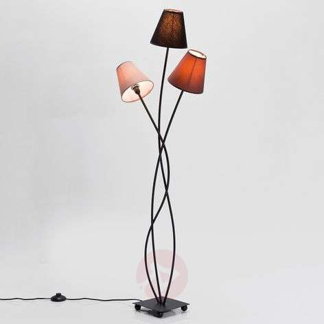 KARE Flexible Mocca Tre three-bulb floor lamp
