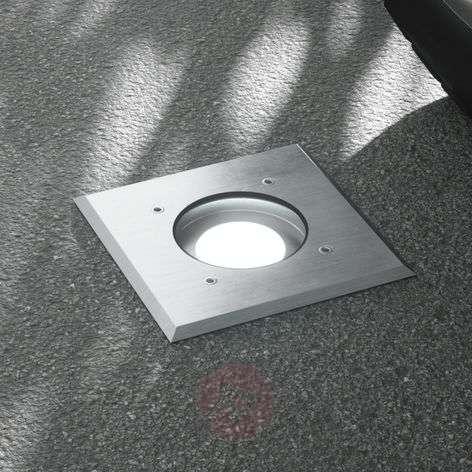 Kari LED recessed floor light, angular