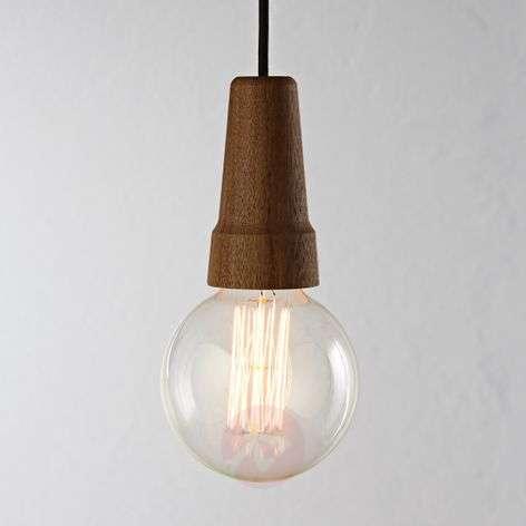Karma - a pendant light with walnut wood